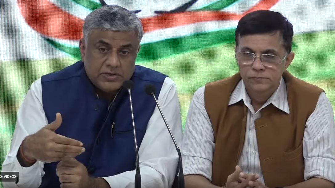Congress MP Rajeev Gowda and spokesperson Pawan Khera (File photo)