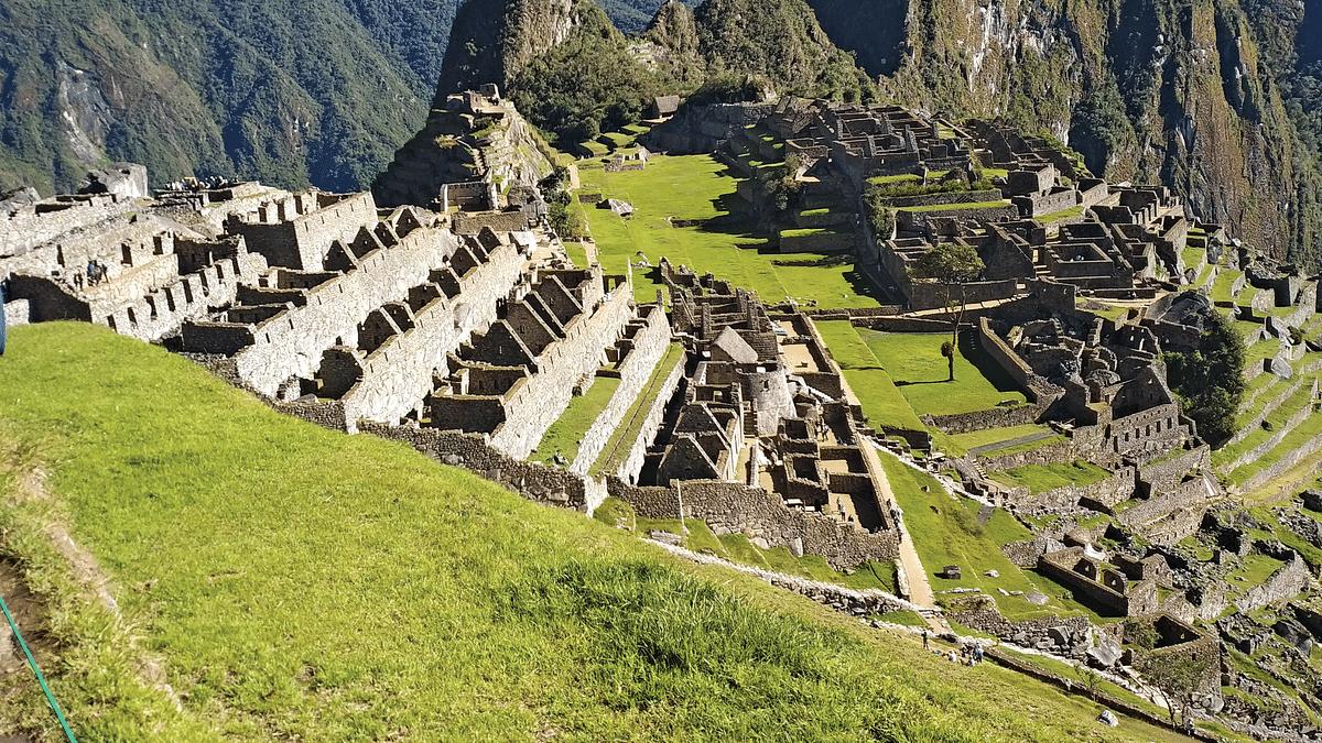 A panoramic view of the ruins at Machu Pichhu (NH Photo by Vijoy Kumar Sinha)