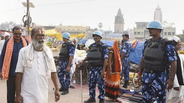 There is heavy deployment of police and paramilitary forces across Uttar Pradesh, particularly in Ayodhya (in pic).