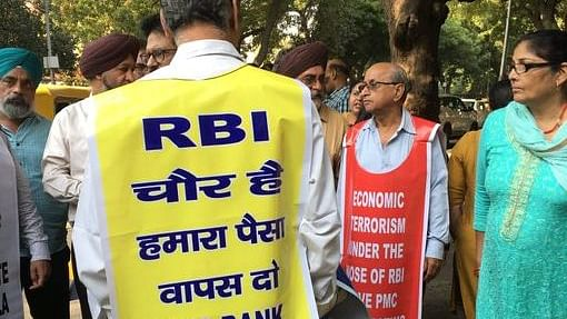 PMC depositors gather outside RBI Delhi, demand assurance from central bank