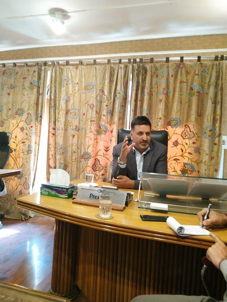 KCCI president Sheikh Ashiq (NH Photo)
