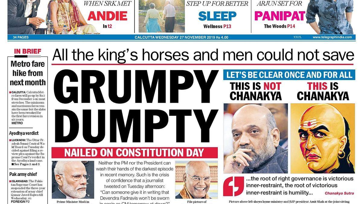 Front Pages This Morning - November 26, 2019