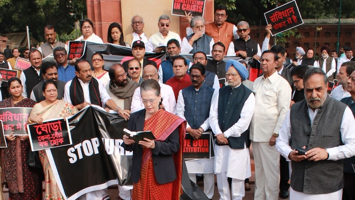 Congress, Opposition skip Constitution Day joint session