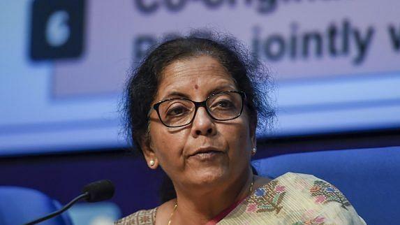 Union Finance Minister Nirmala Sitharaman