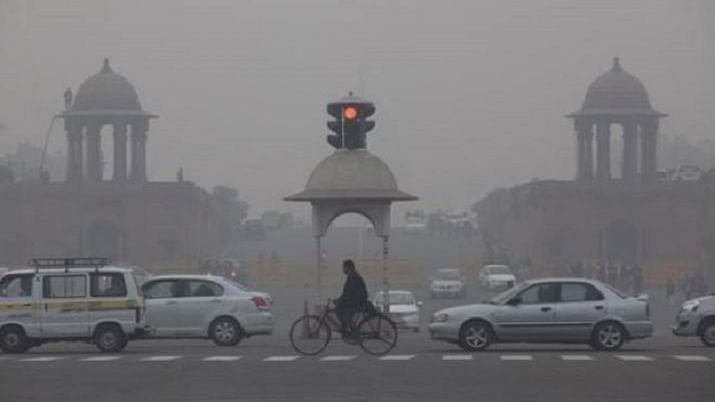 Picture depicting high levels of air pollution in Delhi (PTI photo).