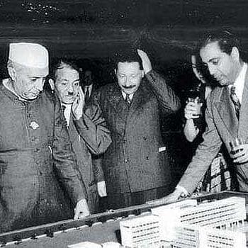 Pt Jawaharlal Nehru with Dr Homi J Bhabha