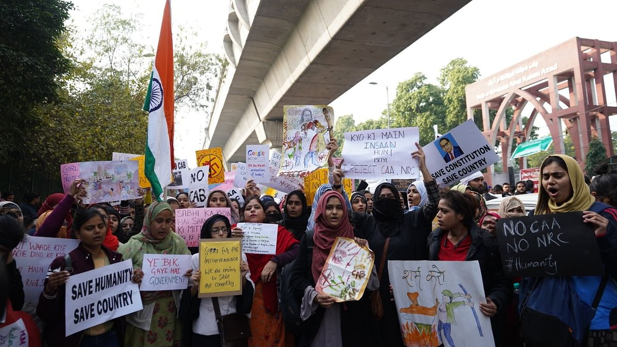 'We are anti-CAA, not anti-national': Protests continue at Jamia