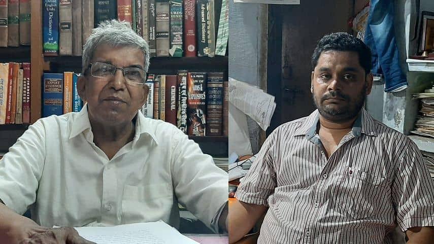 Lawyer activist Mohammad Shoib (left) and  his colleague Rajiv Yadav