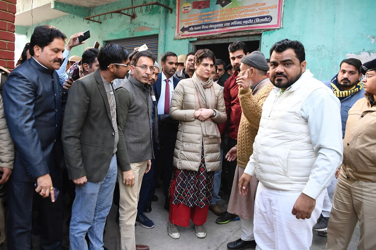 Priyanka Gandhi visits Bijnor, meets family of youth killed in anti-CAA violence