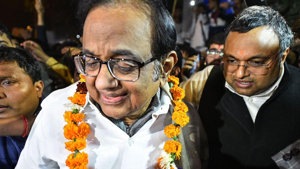 Happy to breathe air of freedom, says Chidambaram as he walks out of jail