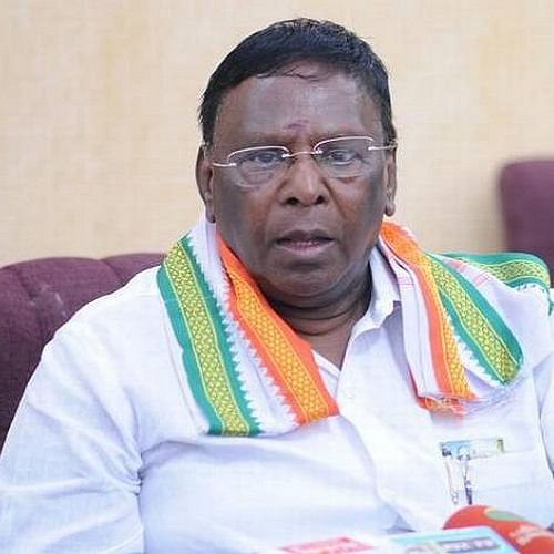 Former Puducherry Chief Minister V. Narayanasamy (File photo)
