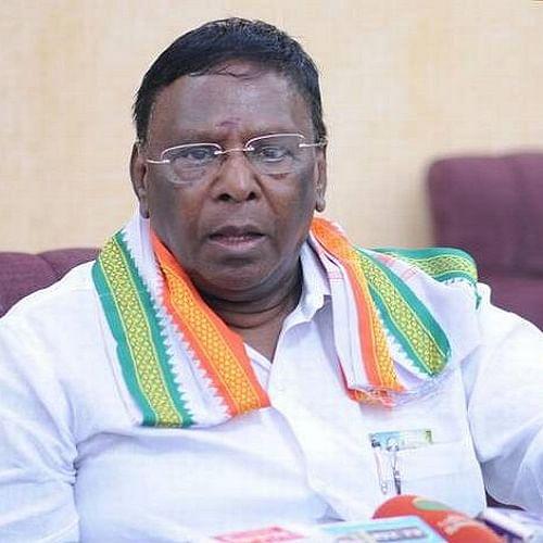 Former Puducherry Chief Minister V Narayanasamy (File photo)