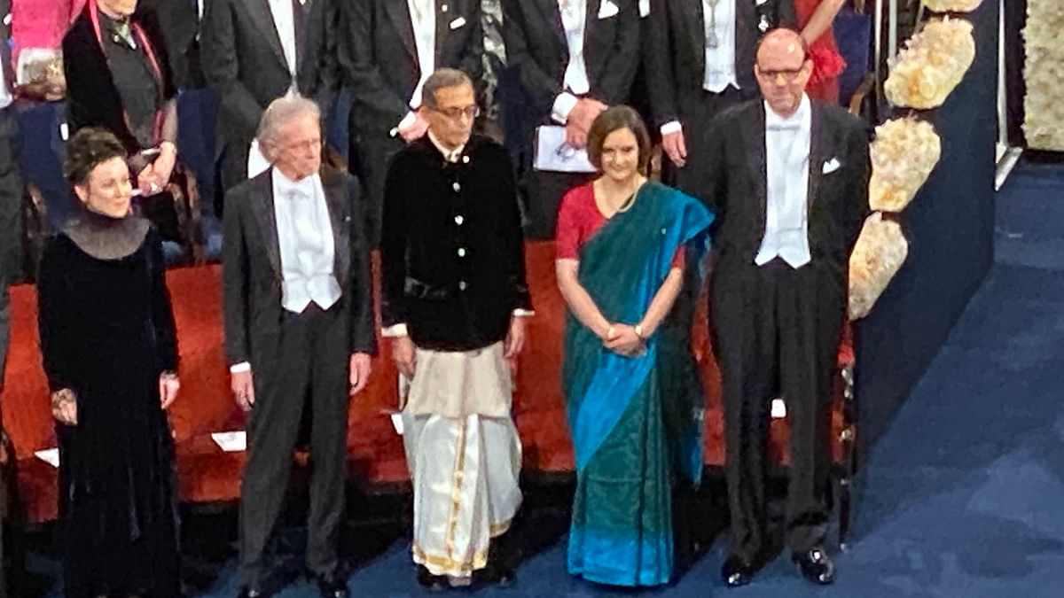 A Nobel ceremony: Abhijit Banerjee, Esther Duflo woo netizens in ethnic wear