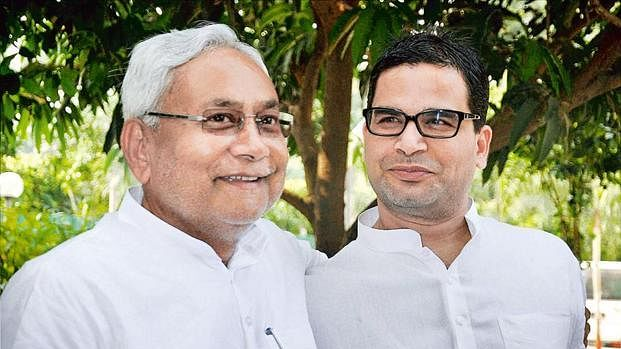 Bihar CM Nitish Kumar with Prashant Kishor