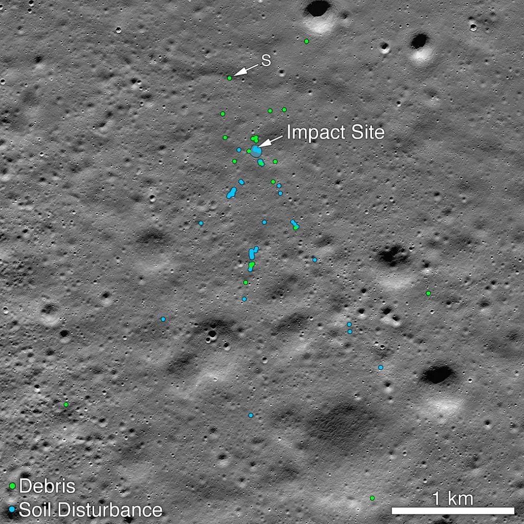 NASA finds Vikram moon lander's debris