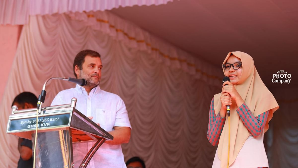 Meet the 17-year-old girl who translated Rahul Gandhi's speech in Wayanad
