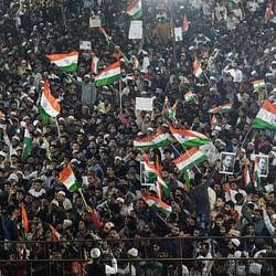 Anti-CAA protests (Photo courtesy: Twitter)