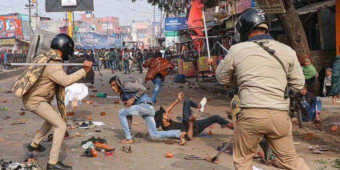 Anti-CAA protest in Lucknow (PTI Photo)