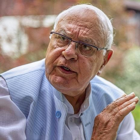 Former Jammu and Kashmir chief minister and National Conference president Farooq Abdullah.