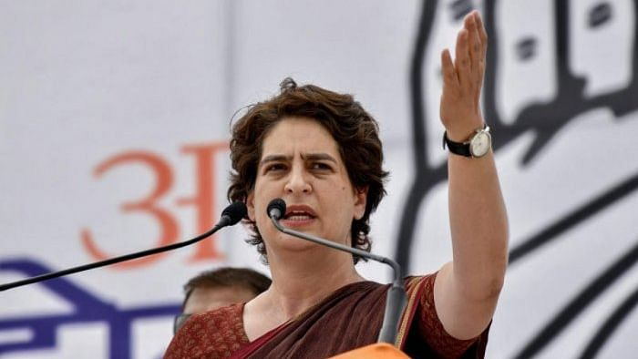 Priyanka slams Centre as police use water cannons on farmers in Haryana