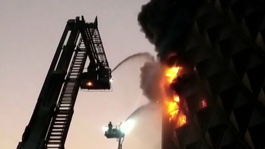 Fire in Surat market; over 60 fire tenders rushed to spot