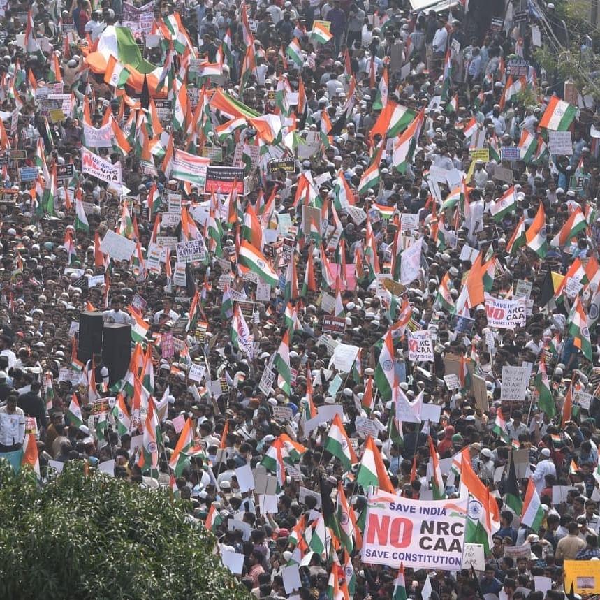 anti-CAA demonstration (Photo Courtesy: IANS)