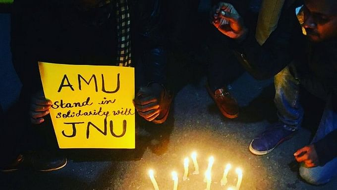 JNU violence evokes strong reaction at AMU
