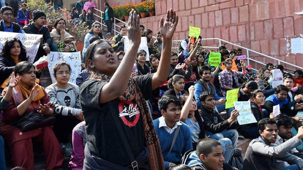 Students, teachers collectively boycott classes at JNU