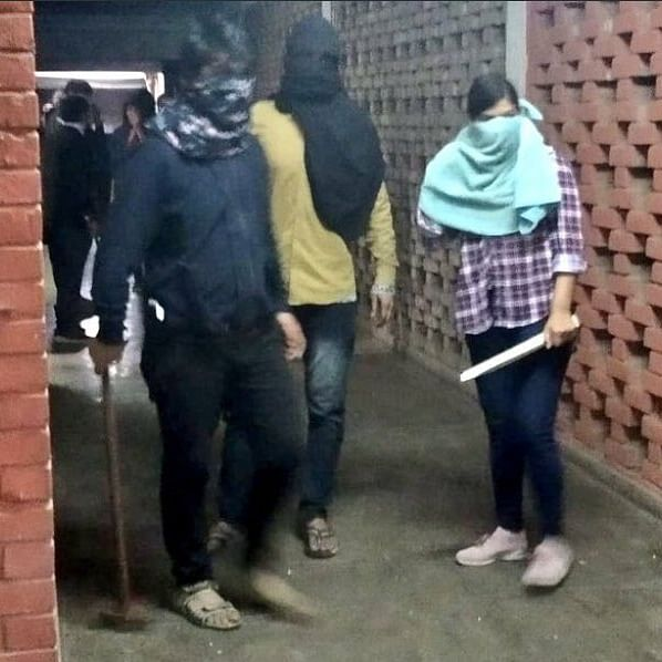 Masked goons attacked JNU campus on January 5 (Photo courtesy: Twitter)