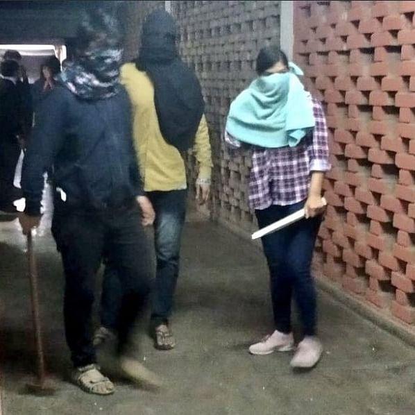 Masked goons attacked JNU campus on January 5 (Photo courtesy: Twitter)