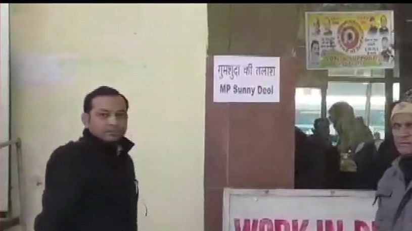 """""""Missing, MP Sunny Deol"""" posters appear in Pathankot, Punjab"""