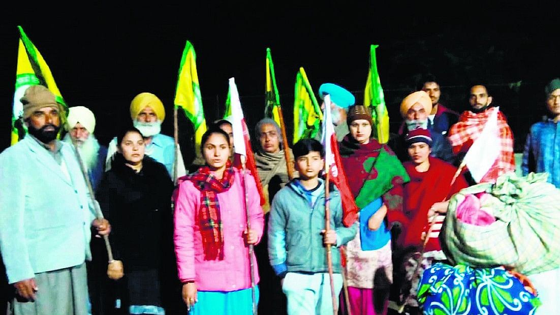 The group from Punjab that arrived in Delhi on Wednesday. They had left from Bathinda on Tuesday night.