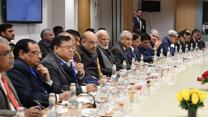 PM Modi and Home Minister Amit Shah with economists and experts ahead of budget session