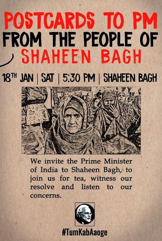 #TumKabAaoge: Shaheen Bagh women  invite PM Modi for a 'chai pe charcha'