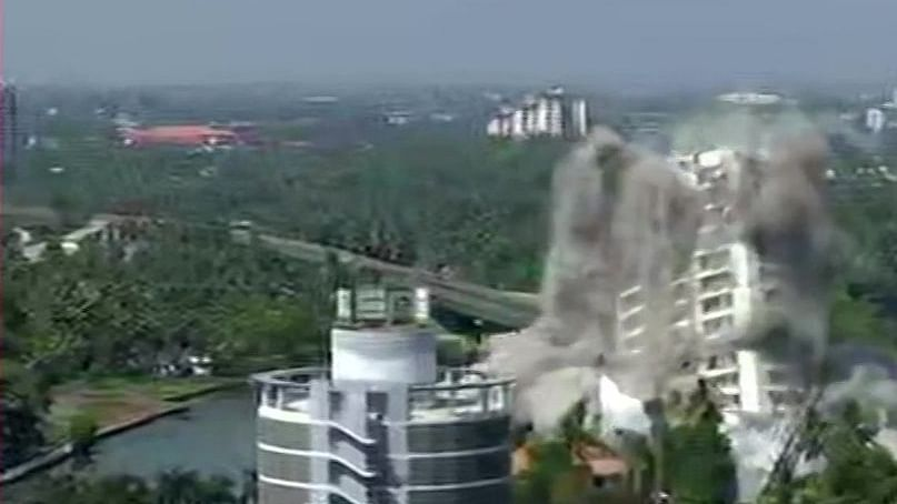 WATCH:  2 illegal apartment complexes in Kerala brought down; SC order implemented