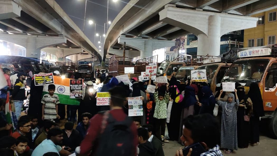 Women stage flash protest against CAA in Hyderabad