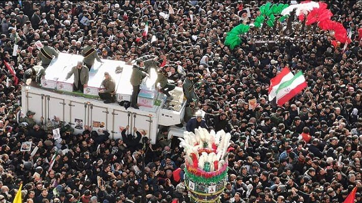 Huge crowds in Iran mourn general Qassem Soleimani killed by US drone