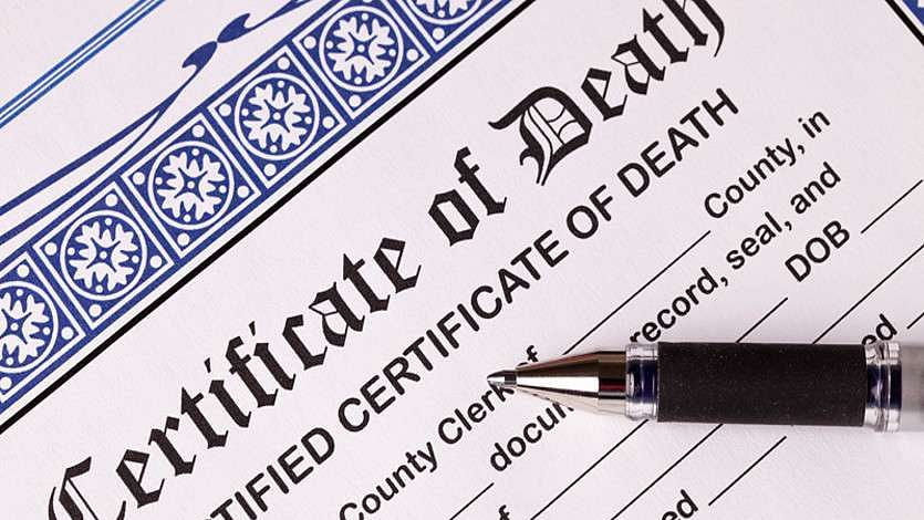 Death certificate wishes 'bright future' to deceased