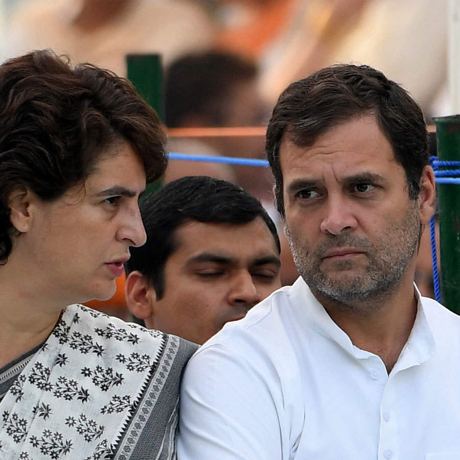 Congress leaders Priyanka Gandhi and Rahul Gandhi (File photo)