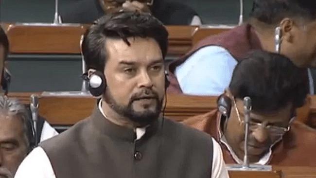 As Anurag Thakur speaks in Lok Sabha, opposition chants 'goli mantri go back'