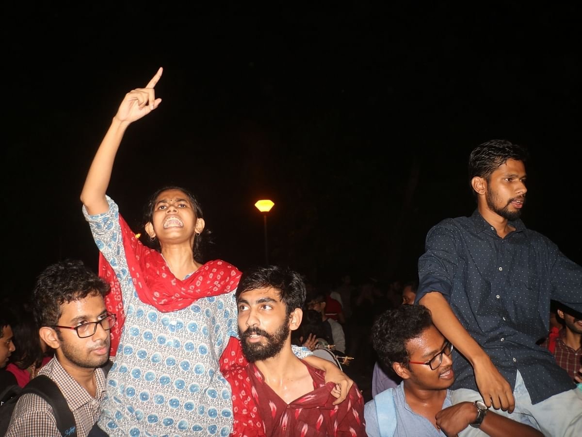 JNUSU leaders Aishe Ghosh and Saket Moon (File photo-IANS)