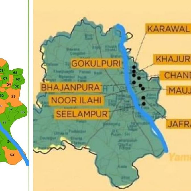 The map shows riots broke out in areas where BJP won in Delhi Assembly elections