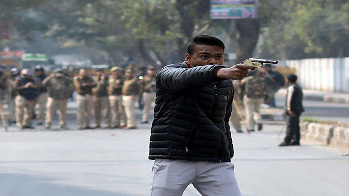 New Delhi recreates the 'Western', guns and goons sans the cowboy and horses
