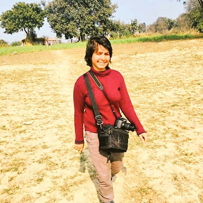 Journalist Pradeepika Saraswat, who is part of the group of protestors