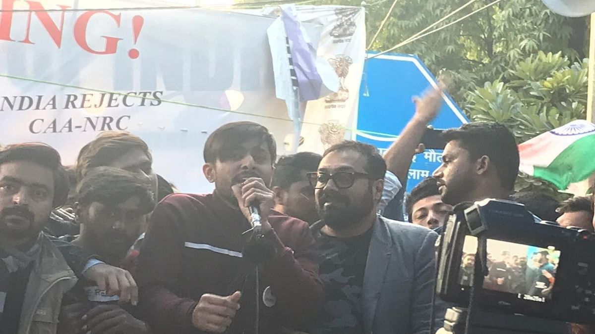 Anurag Kashyap visited Jamia Millia Islamia University to show solidarity with the protestors on Friday