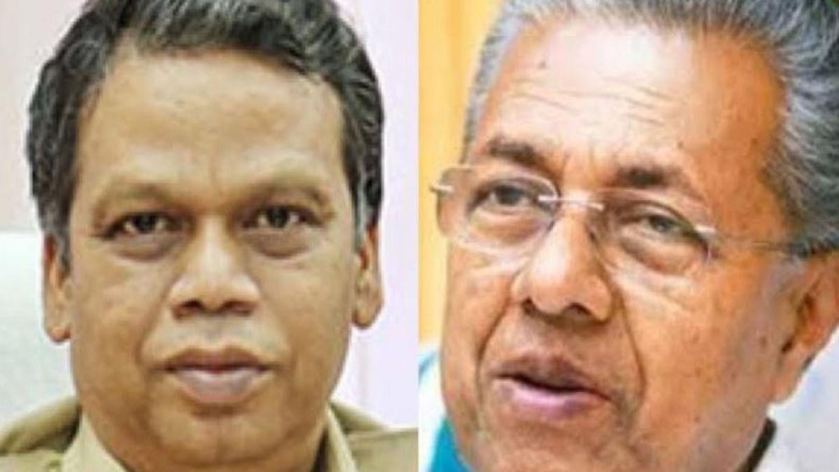 (Left) DGP Lokanath Behera; (Right) Kerala CM Pinarayi Vijayan