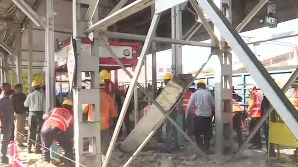 Part of ramp connecting FOB at Bhopal station collapses; 8 injured