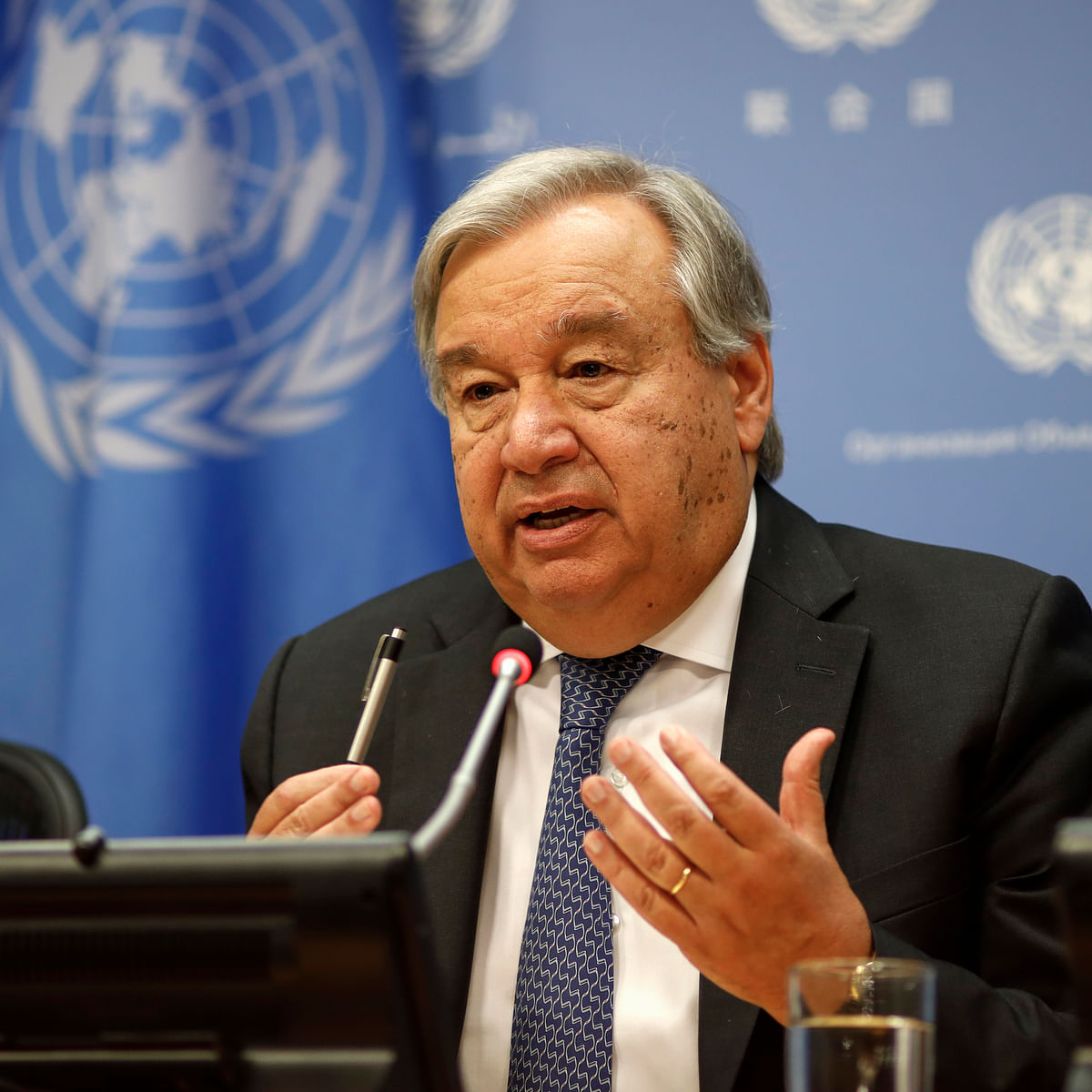 UN Secretary-General Antonio Guterres (Photo Courtesy: IANS)