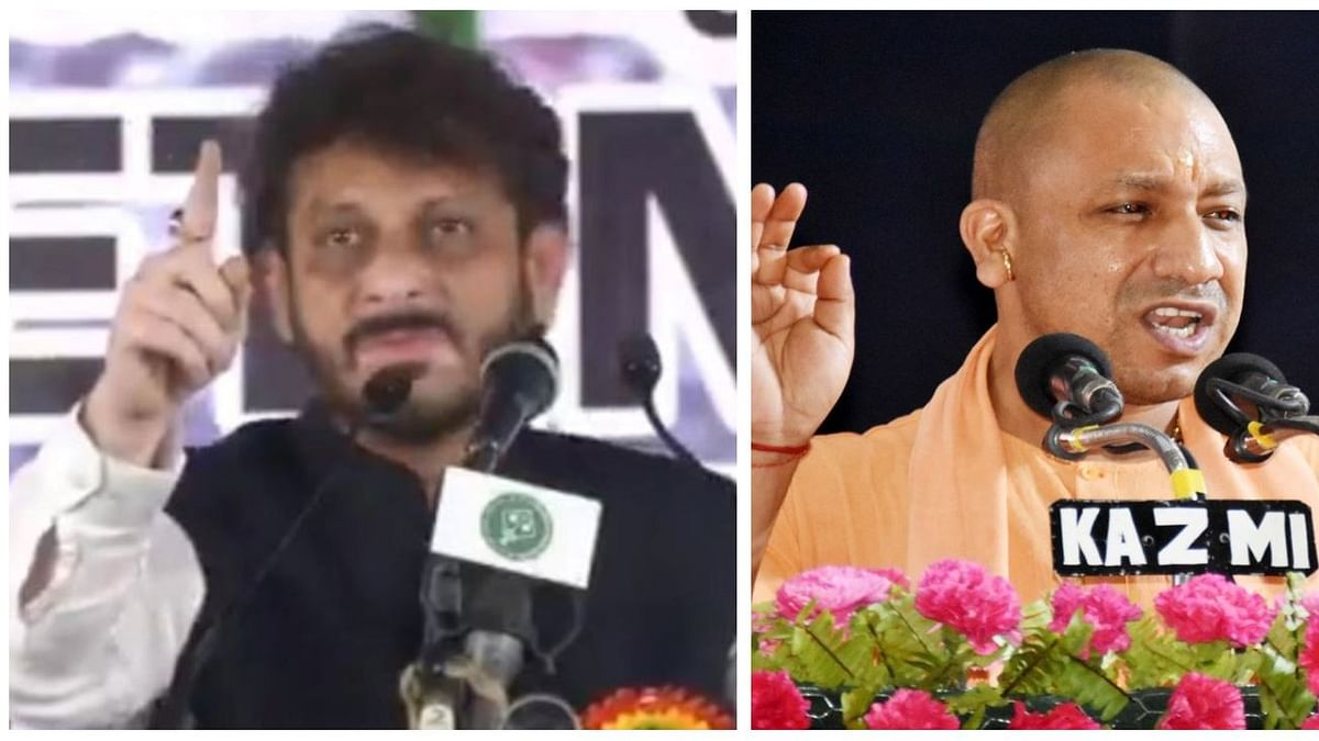 (Left) Waris Pathan & (Right) Yogi Adityanath