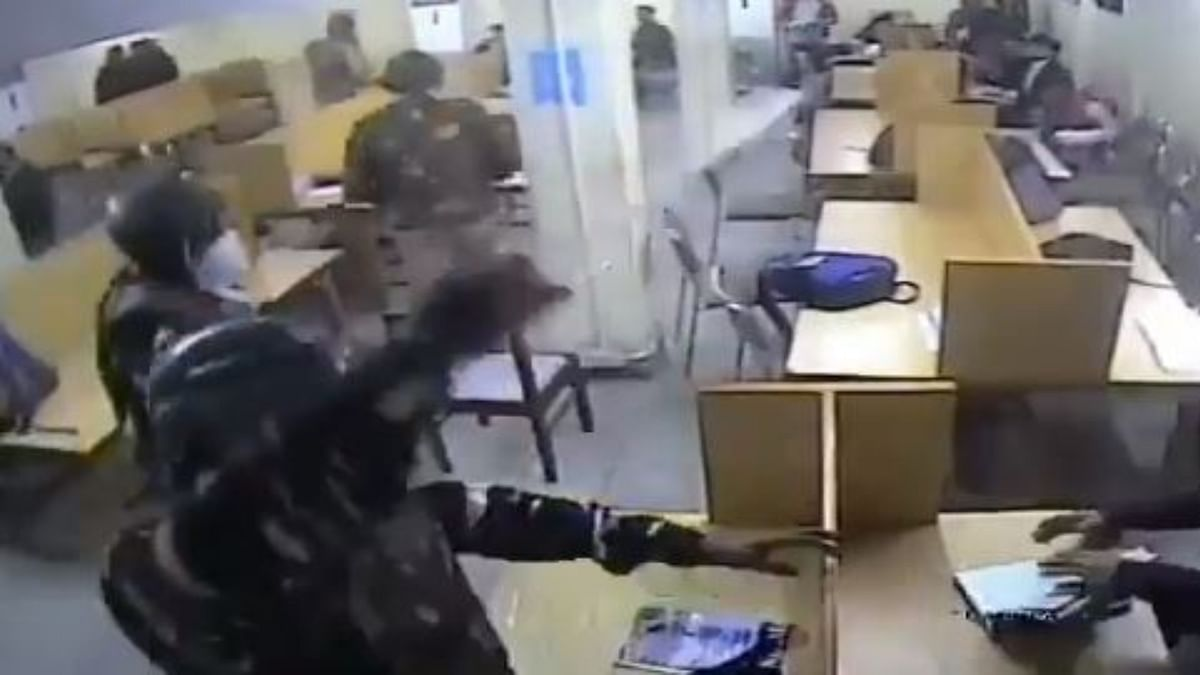 CCTV footage show Delhi Police in action in Jamia library